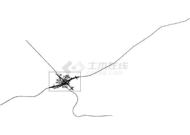 广西昆仑大道立交桥CAD平面布置图 -图2