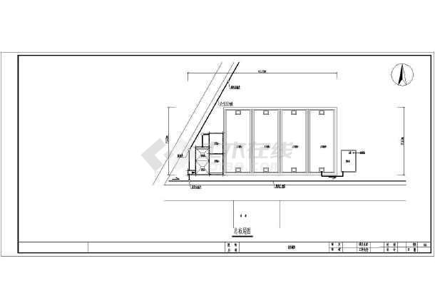人工湿地工艺日处理200方生活污水CAD施工图-图1