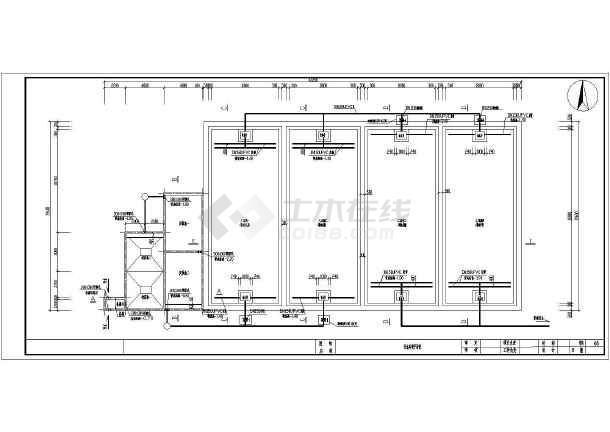 人工湿地工艺日处理200方生活污水CAD施工图-图2