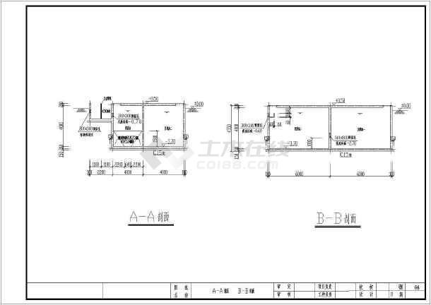 人工湿地工艺日处理200方生活污水CAD施工图-图3