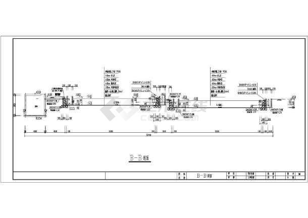 人工湿地日处理60方生活污水CAD施工图(含设计说明)-图3