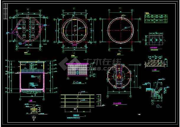 某地全套集水井cad设计施工方案图集-图1