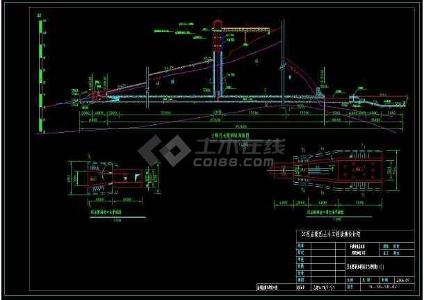 全套发电隧洞cad施工设计图纸(含设计说明)-图1
