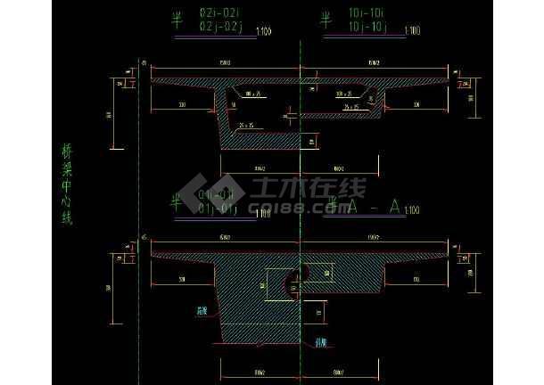 十几种桥梁结构全套CAD设计施工方案图纸-图3
