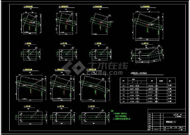 某地桥梁镇墩方案设计cad配筋图纸-图2