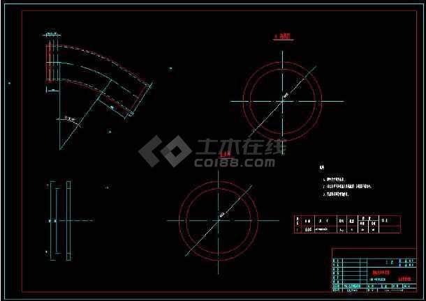 某水电站压力钢管技术施工cad设计建筑方案图-图3