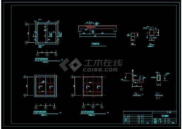 某地1.5m泵站工程cad施工设计图-图2
