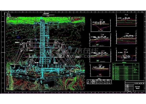 某地大型水电站cad详细施工导流图纸-图2