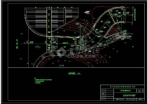 某水库除险加固设计工程cad施工图-图2