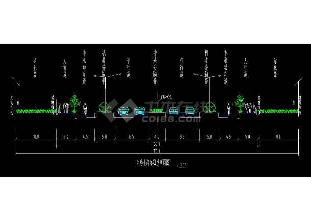 某地市政道路全套方案cad设计施工图-图1