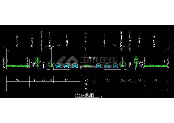 某地市政道路全套方案cad设计施工图-图2