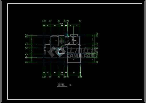 某地特色独栋小别墅给排水方案设计CAD图(含设计说明)-图3