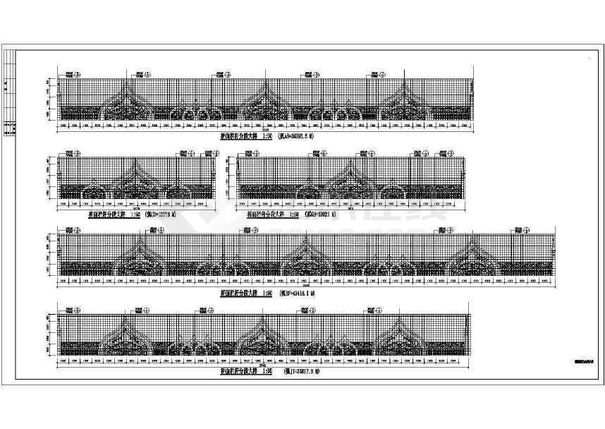 人行天桥栏杆大样路桥图(标注详细)-图2