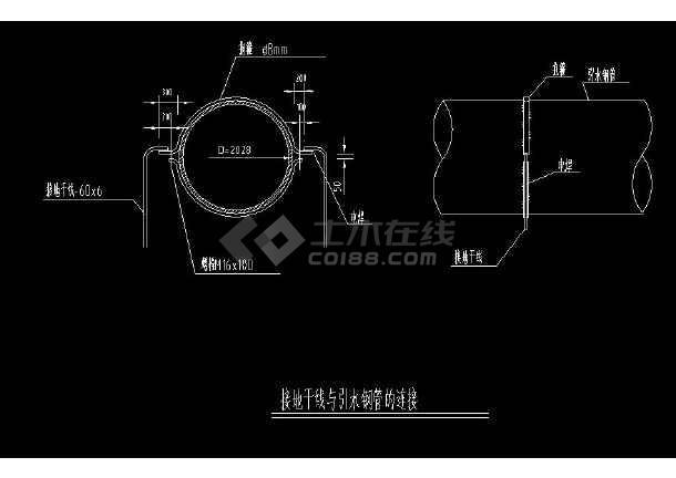 某地全套小型水电站机电cad设计图集-图2