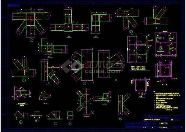 某地输煤栈桥整套cad设计施工方案图-图1