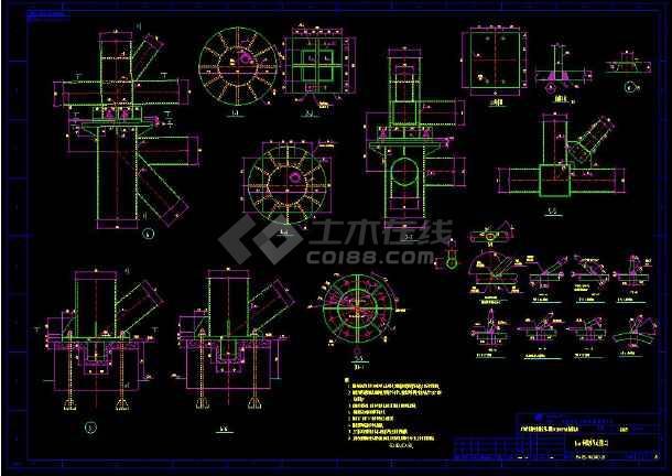 某地输煤栈桥整套cad设计施工方案图-图2