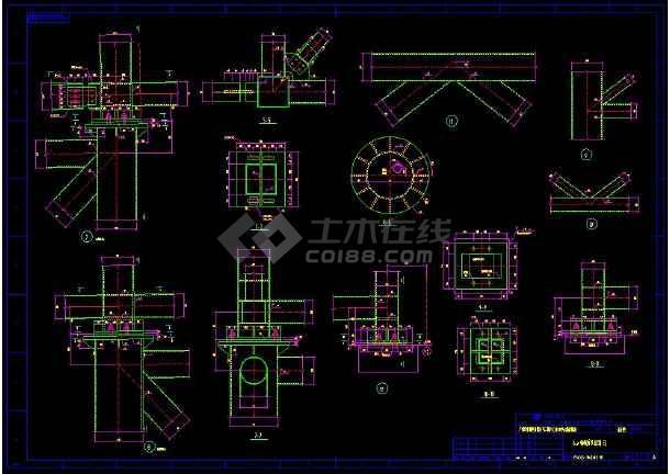 某地输煤栈桥整套cad设计施工方案图-图3