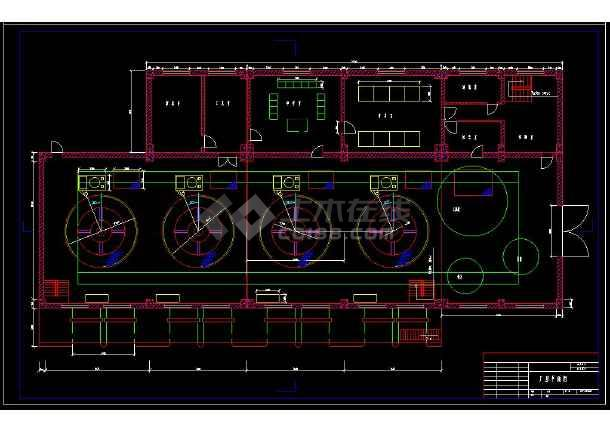 某水利发电站厂房cad设计建筑图纸-图3
