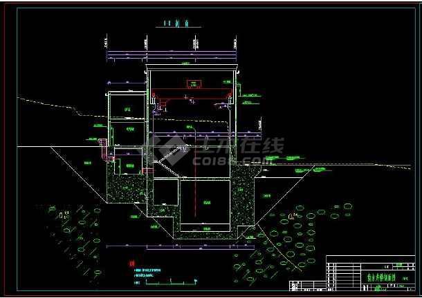 某水电站全套建筑设计cad施工方案图-图1
