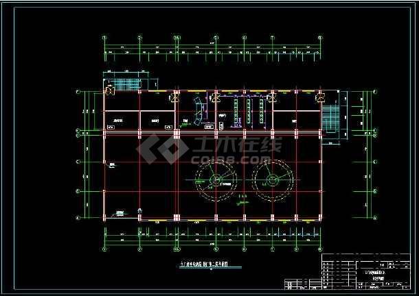 某水电站全套建筑设计cad施工方案图-图2