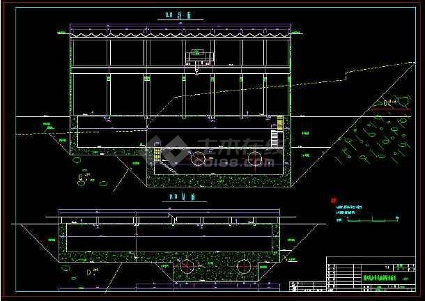某水电站全套建筑设计cad施工方案图-图3