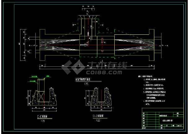 某水利工程管理站房cad平面设计施工图-图3
