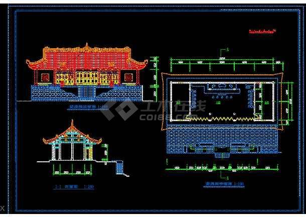 某地区古建筑修复设计cad施工尺寸标准章建筑业图纸设计图纸图片