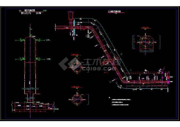 某水电站地下厂房监测全套cad施工图纸-图1