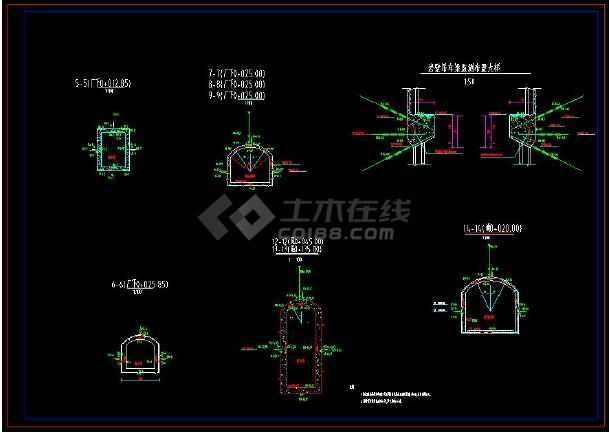 某水电站地下厂房监测全套cad施工图纸-图2