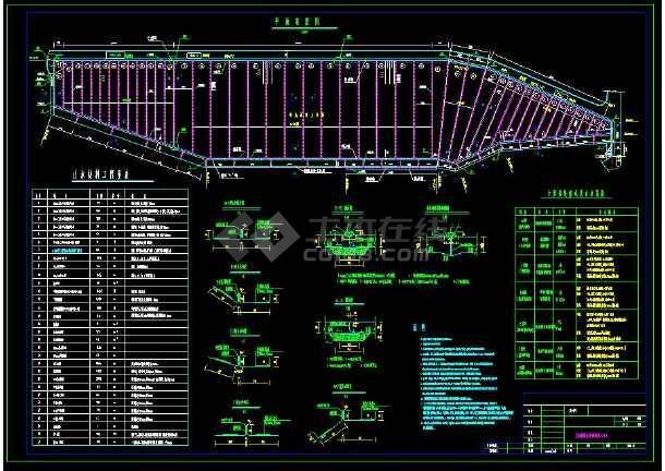 某水利工程接缝止水cad设计施工方案图-图2