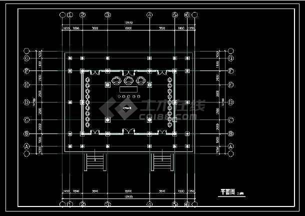 某地古建筑龙山寺cad设计平立面方案图