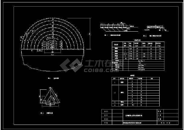 某隧道爆破设计网络布置CAD方案图-图1