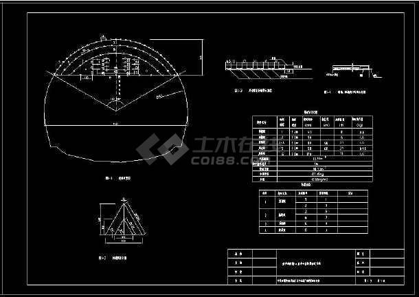 某隧道爆破设计网络布置CAD方案图-图2