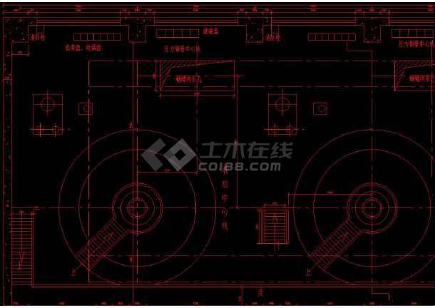 某水电站厂房cad结构设计施工图纸-图1