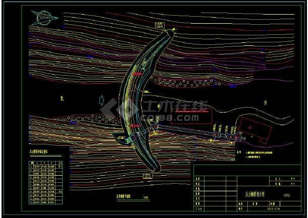 某水电站建筑方案设计cad详细施工图-图3