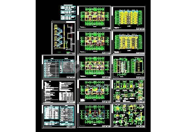 旌湖图纸星辰住宅楼CAD设计施工建筑多层挖掘机图纸v图纸图片