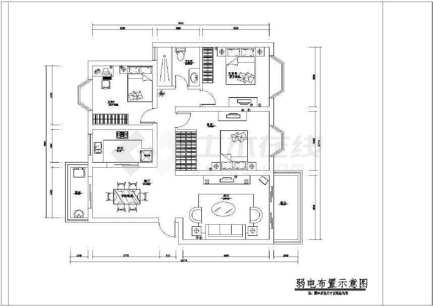 本资料为某地室内装修设计方案图纸(含设计说明),其包含的内容为平面