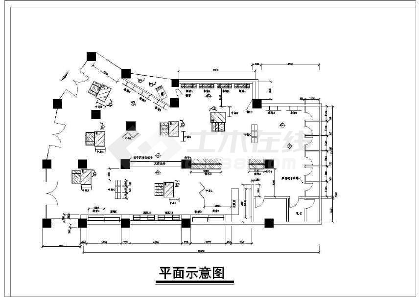 某地小型服装店装修设计图(共11张)