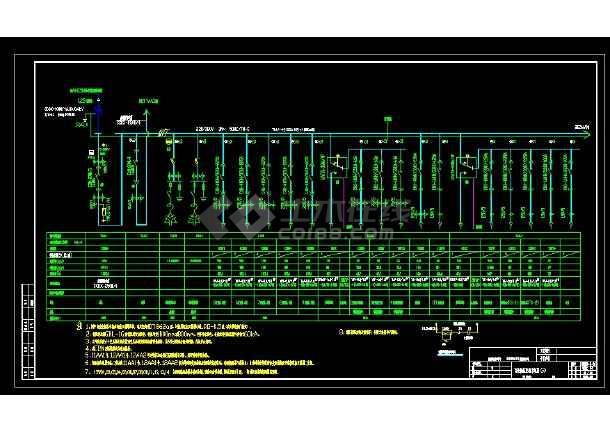 某地区百佳高低压配电设计电气一次系统图图片