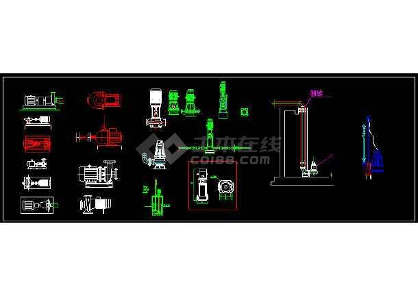 CAD水处理常见设备及各类管阀件图集-图1
