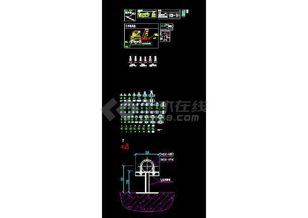 CAD水处理常见设备及各类管阀件图集-图2