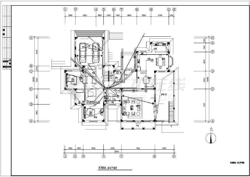 某别墅给排水设计图纸(共10张)-图1