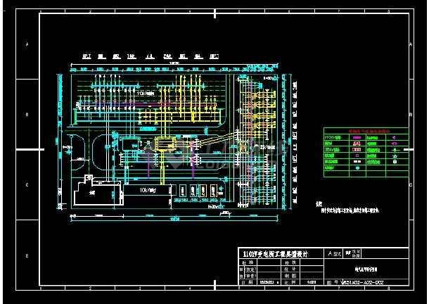 某110kv变电站初步设计cad方案图纸图片