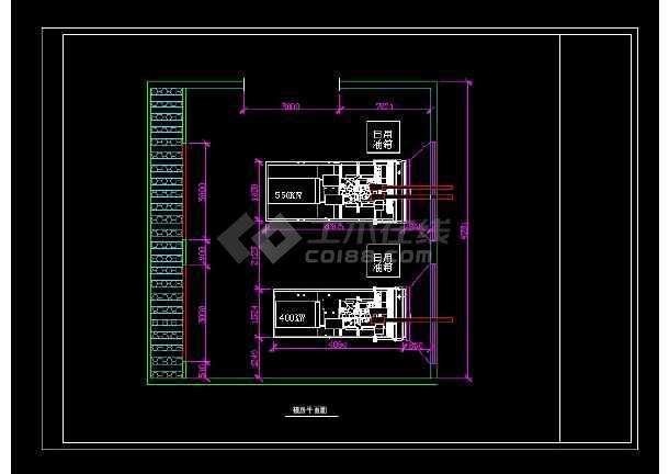 某变电站柴油发电机房设计cad图纸图片