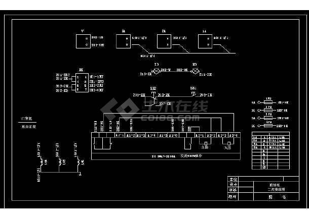 典型dw17型斷路器電氣原理接線圖