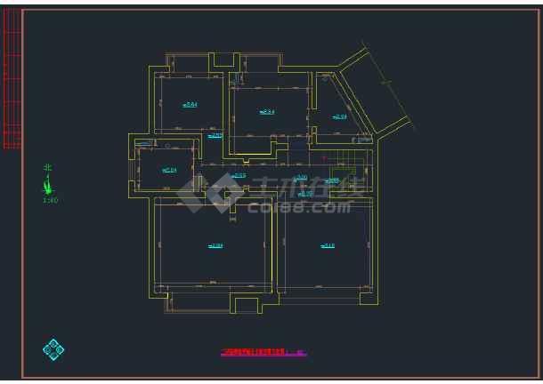 某跃层套房室内装修设计cad图纸