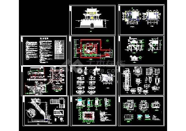 某v图纸长城图纸建筑施工CAD古建麦拉晒图纸图片