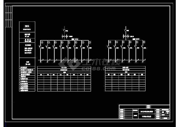 为某车间动力配电柜设计cad总装配图,内容包含:380/220低压配电系统图图片