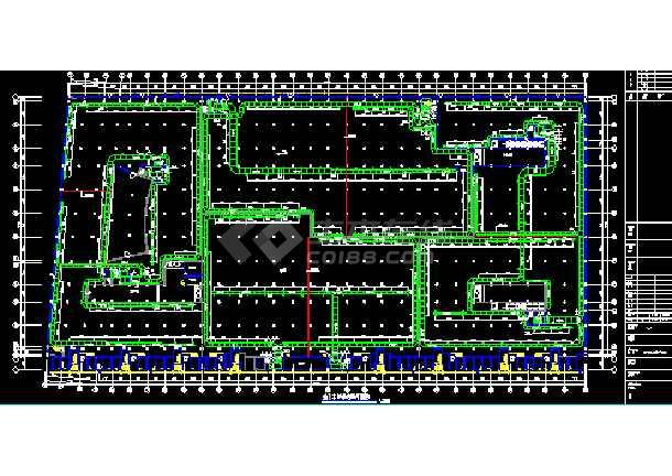 某市省委车库建筑设计cad施工图纸-图1