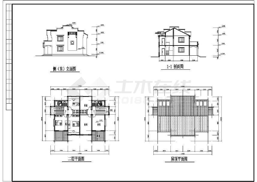 某地小型新农村小康别墅建筑设计图